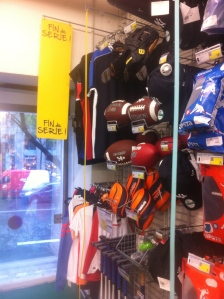 I jsut love this little section of American stuff in the corner of a giant sports store